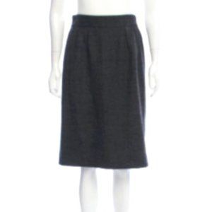 Dolce & Gabbana Micro Check Plaid A-Line Skirt